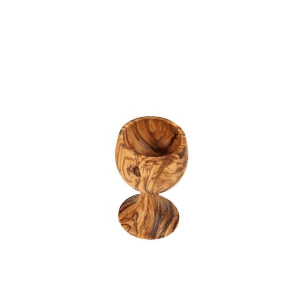 "Coquetier ""Calice"" en Bois d'Olivier"
