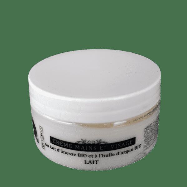 Crème mains et visage au lait d'ânesse Bio et huile d'Argan Bio