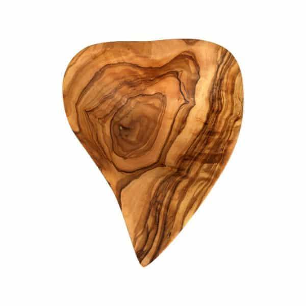 Ravier Cœur creux en bois d'olivier
