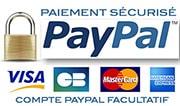 Paiements sécurisé par Cartes Bancaires via PayPal