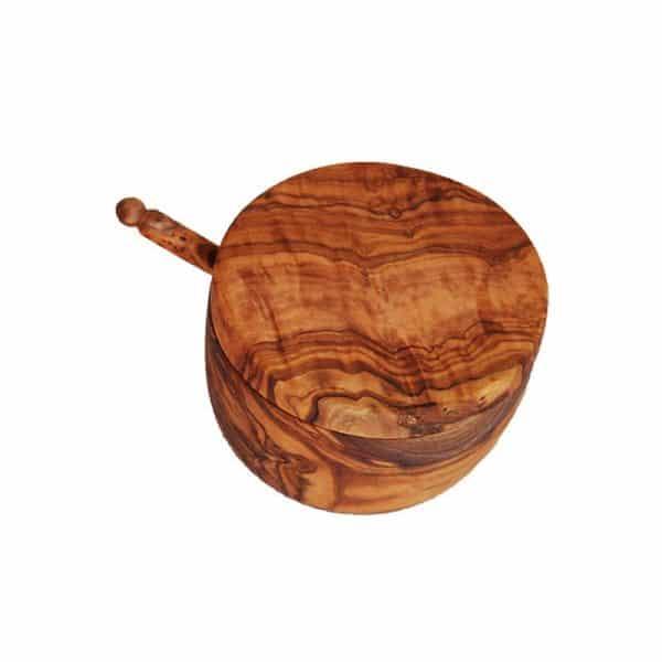 Main à sel et pelle en bois d'olivier