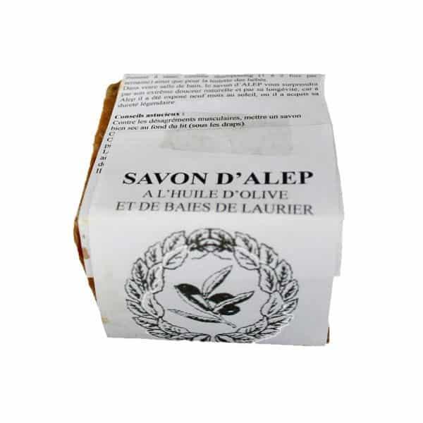 Savon d'Alep à l'huile d'olive (70 %) et à la baie de laurier (25 %)