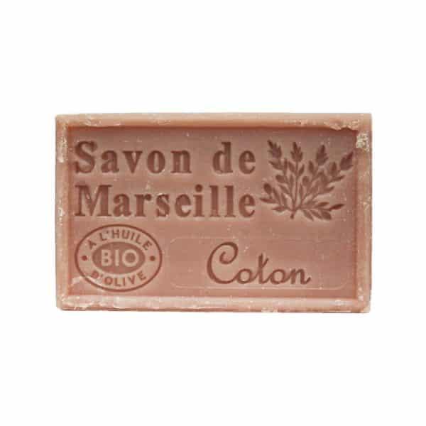 Savon de Marseille à la fleur de Coton - Pain de 125 gr