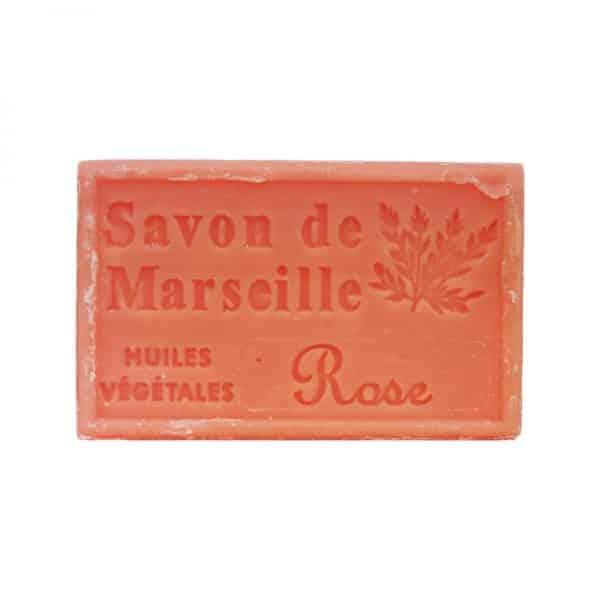 Savon de Marseille à la Rose - Pain de 125 gr