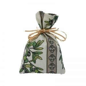 Sachet de lavande décor olivier rafia