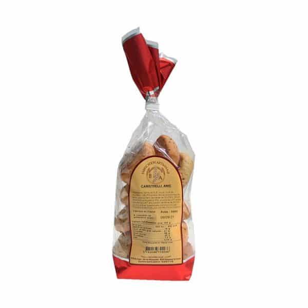 Canistrelli à l'anis fabriqués de façon artisanale par la Biscuiterie d'Azur- Sachet 200 gr