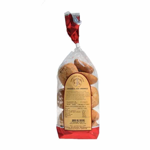 Croquets aux Amandes - Sachet 200 gr- Biscuiterie d'Azur