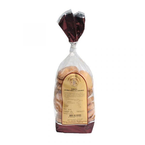 Sablés aromatisés à l'Orange - Sachet 200 gr - Biscuiterie d'Azur