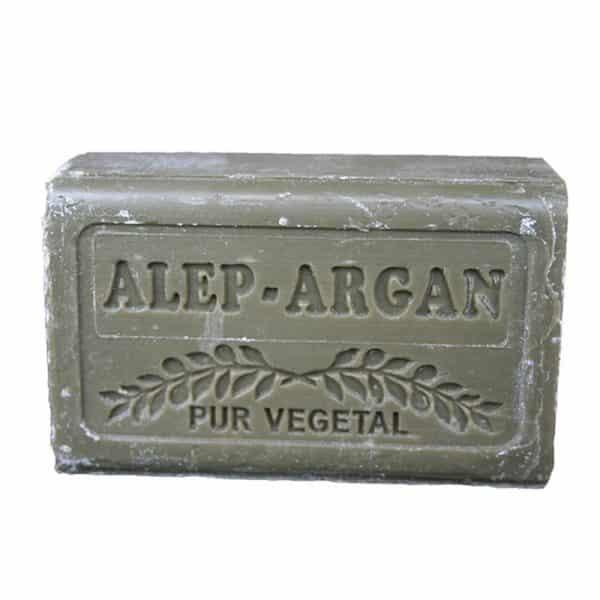 Savon d'Alep à l'huile d'Argan - Pain 150 gr - Pur Végétal
