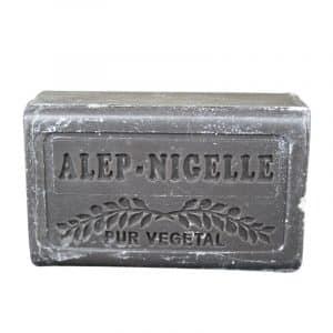 Savon d'Alep à l'huile de Nigelle - Pain 150 gr - Pur Végétal